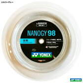 ヨネックス(YONEX) ガット バドミントン用 ナノジー98 シルバーグレー 200mロールガット NBG98-2-024
