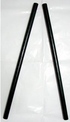 カリ・エスクリマ スティック(オリシ) ロイヤルウッド製 黒色塗装 1対(2本セット)直径2.5cm