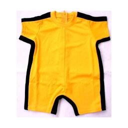 <strong>ブルース・リー</strong> (李小龍) 子供用死亡遊戯イエロー・トラックスーツ(半袖・半ズボンタイプ3サイズ)濃橙色