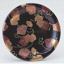 回転寿司皿 寿司皿黒に二色ツタ 高さ21 直径:150 (業務用)(グループI)