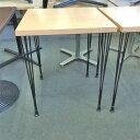 【中古】洋風テーブル 幅600×奥行600×高さ735 【送料別途見積】【業務用】