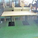 【中古】洋風テーブル(白木) 幅1800×奥行800×高さ710 【送料別途見積】【業務用】