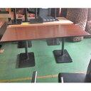 【中古】洋風テーブル 濃茶 脚黒 幅1800×奥行800×高さ720 【送料別途見積】【業務用】
