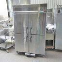 【中古】4ドア縦型冷凍冷蔵庫 大和冷機 403YS1-EC 幅1200×奥行650×高さ1890 三相200V 【送料別途見積】【業務用】