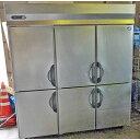 中古 業務用 縦型冷蔵庫 SRR-G1861 幅1800×奥行600×高さ2000 三相200V 三洋電機 厨房機器 送料別途見積