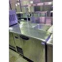 送料別途見積 中古 業務用 特注サンドイッチコールドテーブル 幅900×奥行900×高さ850+500 単相100V フジマック 厨房機器