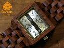 テンス【tense】カンヴァスモデル No.388木製腕時計(アフリカンローズウッド)1971年創業のカナダ木工専門技を