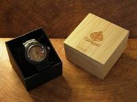 tenseアーバンモデル木製腕時計(ダークサンダルウッド)