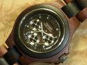 エグゼクティブモデル No.202木製腕時計(サンダル&ダークサンダルウッド)1971年創業のカナダ木工専門技を結集し、匠が創り上げたTENSE木製腕時計(ウッ...