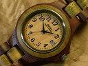 レトロベーシックモデル No.37木製腕時計(サンダル & グリーンサンダルウッド)1971年創業のカナダ木工専門技を結集し、匠が創り上げたTENSE木製腕時計...