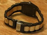 tenseヘキサゴンモデル木製腕時計(ダークサンダルウッド&メイプルウッド)