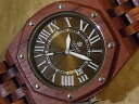 オクタゴンプレステージモデル No.430木製腕時計(ローズウッド)1971年創業のカナダ木工専門技を結集し、匠が創り上げたTENSE(テンス)木製腕時計(ウッ...