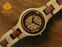 L7509モデル No.142木製腕時計(メイプルウッド & アフリカンローズウッド)1971年創業のカナダ木工専門技を結集し、匠が創り上げたTENSE木製腕時...