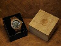 ネオアーバンモデル木製腕時計(ウォルナット)
