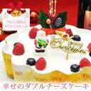 【本州送料無料】クリスマス限定「幸せのダブルチーズケーキ」