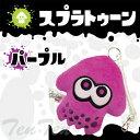 スプラトゥーン グッズ ダイカットパスケース パープル 【即納品】 Wii U Spiatoon 【...
