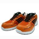 安全靴 安全スニーカー セーフティシューズ XEBEC ジッベック エアクッション 耐油性ゴム底 85124 オレンジ 23.0〜29.0cm