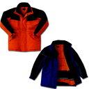 作業服 作業着 冷凍倉庫用 防寒コート サンエス BO8001(ST8001) 作業用ブルゾン ジャケット ジャンパー 冷蔵庫用 M〜4Lサイズ オレンジ/ブルー