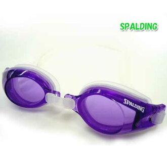 護目鏡水下眼鏡 • 斯波爾丁游泳護目鏡防霧鏡片 UV 切割加工軟日本紫色