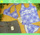 【セール】【送料無料!】 水着 レディース ビキニ タンキニ 7S(7649)■RUTH(ルース) ホルターネックビキニ4点 女性水着 パンツ付 星柄 紫 7号