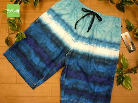 水着 メンズ サーフパンツ 【メール便可】 大きいサイズ 3L(12236) ■ DIX-CLOCHE ブランド水着 スイムパンツ 水彩グラデーション 青 ブルー 男性用水着 大寸 3L寸