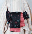 新品 リバーシブル小袋帯 『京じぇんぬ』 洋風柄 ピンク×黒 (1) 【リサイクルきもの・リサイクル着物・アンティーク着物・着物買い取り・きもの天陽 kimono 中古品