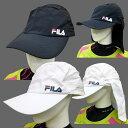 FILA(フィラ) 日よけカバー付き(収納可)キャップ #415372 レディース メンズ 兼用【スポーツキャップ / ランニングキャップ / ゴルフキャップ】