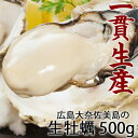 広島産 生牡蠣 老舗の味!特選 牡蠣むき身 500g発泡箱