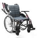 車椅子 自走式ウェイビットプラスシリーズWAVIT+WAP22-40(42)A 中床エアタイヤ(軽量)仕様【条件付き送料無料】
