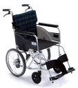 【送料無料】【ノーパンクタイヤ】軽量タイプ車椅子/車イスアルミ介助式車いすミキ BAL-8SP
