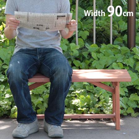 パークベンチ天然木製ベンチ90cmガーデンガーデニング庭ビーチ海キャンプアウトドアレジャー用品ベラン