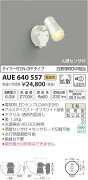 AUE640557 コイズミ照明 人感センサ付 アウトドアスポットライト [LED電球色][オフホワイト] あす楽対応
