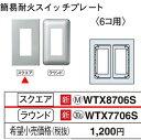 WTX8706S パナソニック コスモシリーズワイド21配線器具 ラフィーネアシリーズ 簡易耐火コンセントプレート (6コ用)(ウォームシルバー)(スクエア)