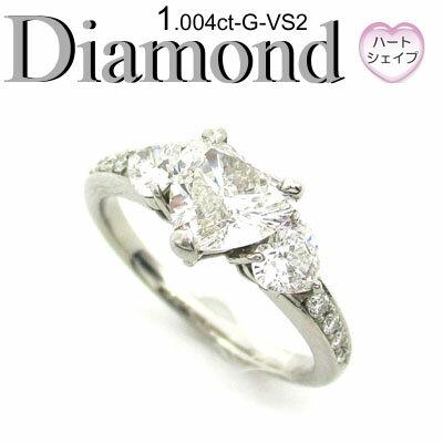 1-1406-02061 GSDS ◆ エンゲージリング Pt900 プラチナ リング ハートシェイプ ダイヤモンド 1.004ct
