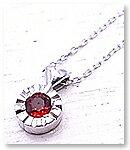 【送料無料】 p-017-n-rs PANDA JEWELRY [ パンダジュエリー ] K10WGキラキラハートのネックレス(レッドサファイア)ホワイトゴールド PANDA JEWELRY[パンダジュエリー]可愛い物が大好き☆~夢見る乙女の世界~をテーマに「可愛い物が大好きな女性」のためのオリジナルのファンタジージュエリーです♪【あたらしい】