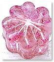 bijyu-119 クローバー型(小) ローズクォーツ ラメ入り ミニオルゴナイト 毘殊 [Bijyu] 天然石パワーストーンアイテム