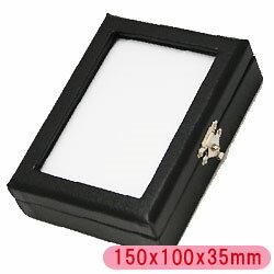 l-c-5 ルースケース 約150x35mm 1個【高級感のある合皮素材です。中のスポンジは白と黒のリバーシブル仕様。大切なルースやパーツ、ジュエリーもすっきり収納!傷つきません!】裸石ケース/ジュエリーケース/宝石ケース/コインケース