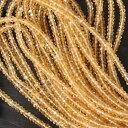 stg-b-07 高品質!天然石 シトリン カットビーズ 約3x2mm 【1/4連 約10cm】ジュエリー・アクセサリー制作にうれしい卸売価格!品質の良いハンドカットビーズです!