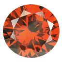 ショッピングORANGE 【5個】カラーダイヤモンド 【ラウンドカット】 ルース オレンジコニャック 1.0mm 天然石 アクセサリー diac-olo10
