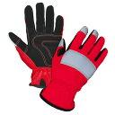 作業用手袋 アルマーノ(赤)反射材つき MK-463(10双セット)【大中産業】
