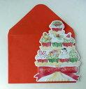 キャロルウィルソンCarol Wilsonクリスマスカード:クリスマスカップケーキ CRGBX206