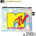メール便OK1通180円 MTV MUSIC TELEVISION コラボ フラットポーチ サンキューマート//10