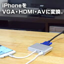 iPhone VGA 変換アダプタ 接続 出力 Lightning D-sub 動画視聴 ゲーム 公式 LightningをVGAとHDMIに変換するアダプタ SLTVHDAA