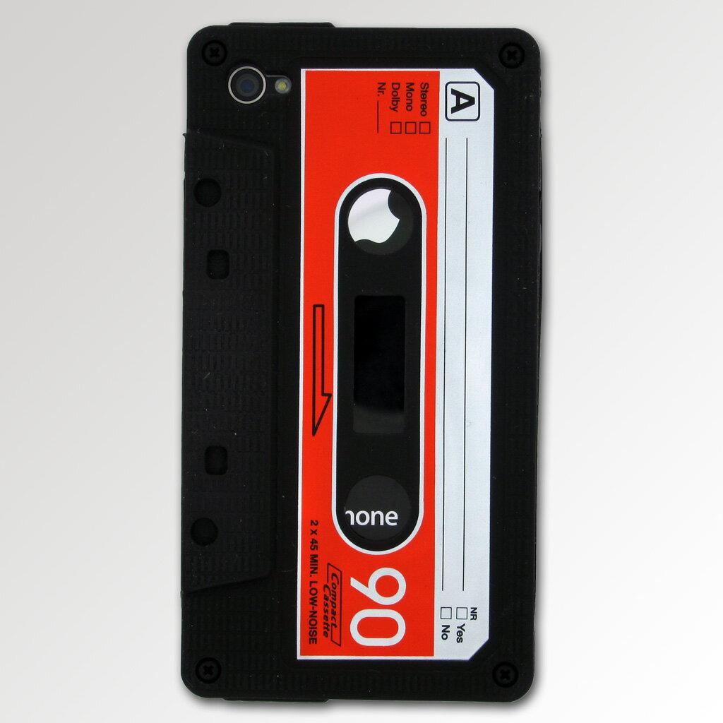 ★価格改定★iPhone4カセット型ケース(ブラック) AKIBA193