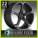 Giovanna DALAR5V(ジオバンナ ダラー5V)MACHINED BLACK(マシーンドブラック)LEXUS LS460/BMW 7シリーズ/シボレー カマロ5Hx120【22インチアルミホイールタイヤ付き4本セット】