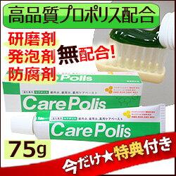 歯磨き粉 研磨剤なし ケアポリス75g×1個【今だけ特典付き】...:thd:10000829