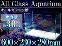 ガラス水槽 60cm水槽 幅60×奥行23×高さ28cm 水...