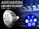 交換球 LED スポットライト 青5白2灯 照射角45度 LED照明 LEDライト 水槽用照明 【アクアリウム 熱帯魚 淡水魚 海水魚 水草 サンゴ イソギンチャク ミドリイシ シャコガイ 観賞魚 水槽 レイアウト】