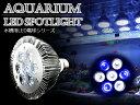交換球 LED スポットライト 白4/青3灯 照射角60度 水槽用照明 LED照明 LEDライト 【アクアリウム 熱帯魚 淡水魚 海水魚 水草 サンゴ イソギンチャク ミドリイシ シャコガイ 観賞魚 水槽 レイアウト】