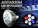交換球 LED スポットライト 青1/赤1/白5灯 照射角60度 水槽用照明 LED照明 LEDライト 【アクアリウム 熱帯魚 淡水魚 海水魚 水草 サンゴ イソギンチャク ミドリイシ シャコガイ 観賞魚 水槽 レイアウト】